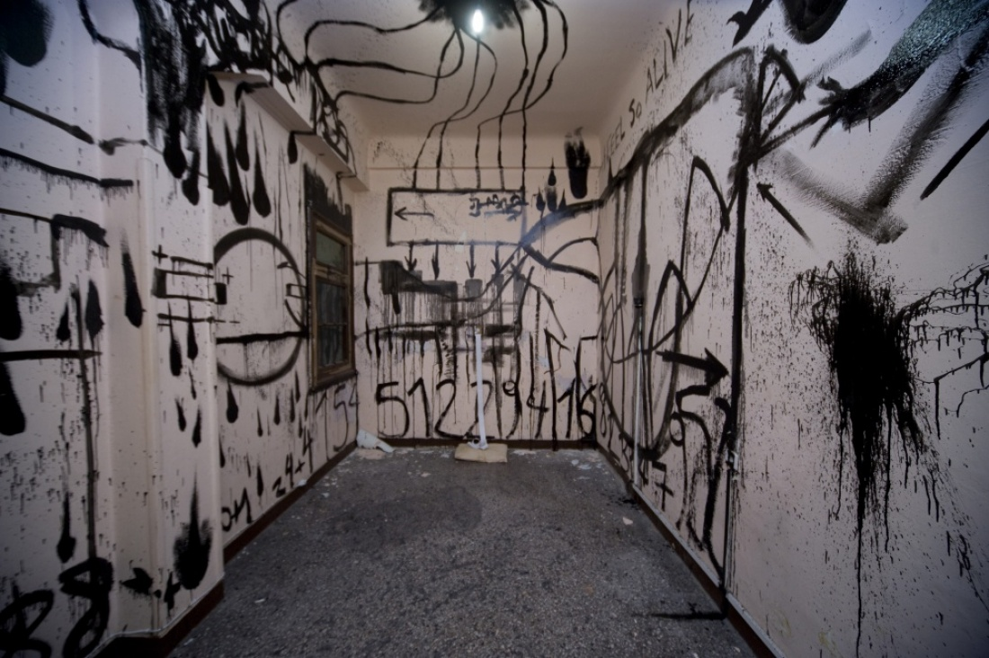 "VISION OF JUDGEMENT​​ Hommage on Lord Byron 2013, installation views Military Prison ""Fix"" Ioannina Greece"