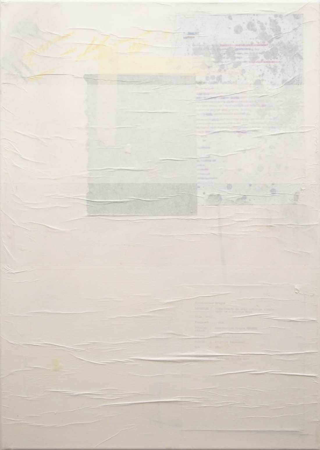 Untitled (3) from the Ghost Notes Series 2018, mixed media on  Canvas, 70x50 cm