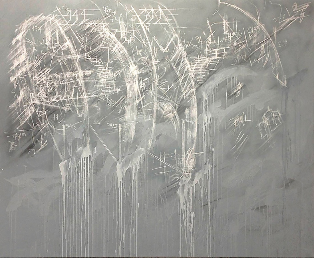 ENZO from the Series A.E.M. 2013/14, Paint Chalk Charcoal Pastels Acrylic Graphite Binder on Canvas, 165x200 cm