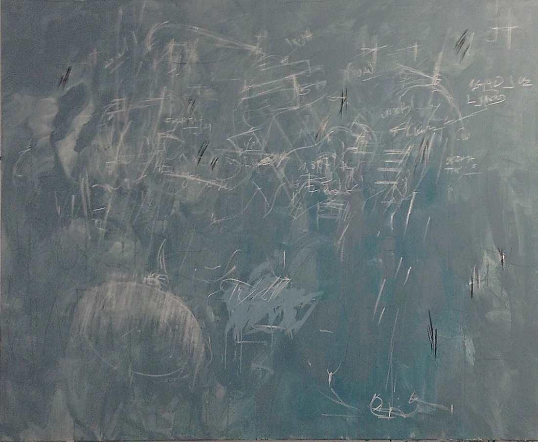 Viktor Kaplan from the Series A.E.M. 2013/14, Paint Chalk Charcoal Pastels Acrylic Graphite Binder on Canvas, 165x200 cm