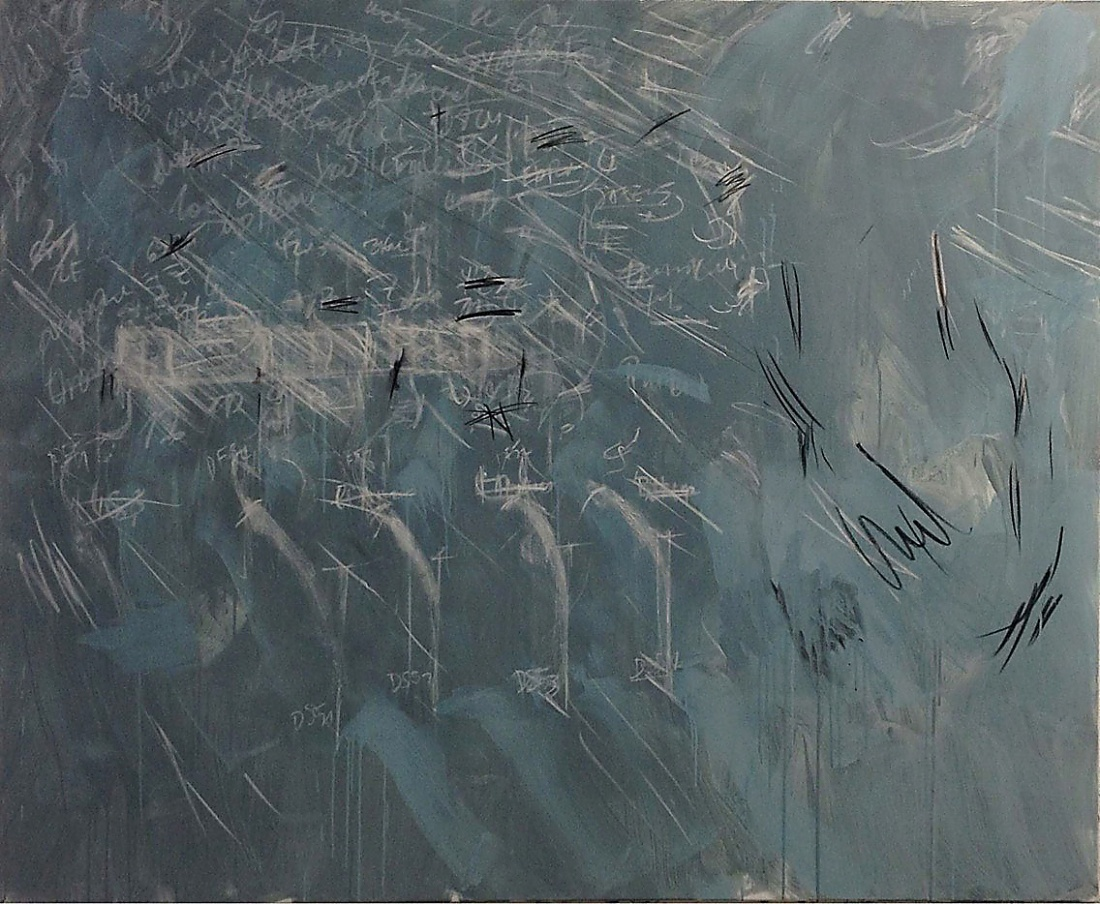 Felix Wankel from the Series A.E.M. 2013/14, Paint Chalk Charcoal Pastels Acrylic Graphite Binder on Canvas, 165x200 cm