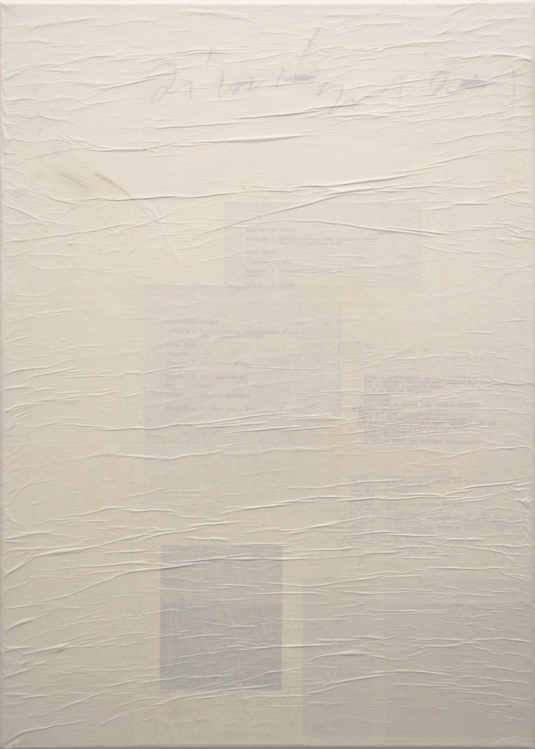 Untitled (10) from the Ghost Notes Series 2018, mixed media on  Canvas, 70x50 cm