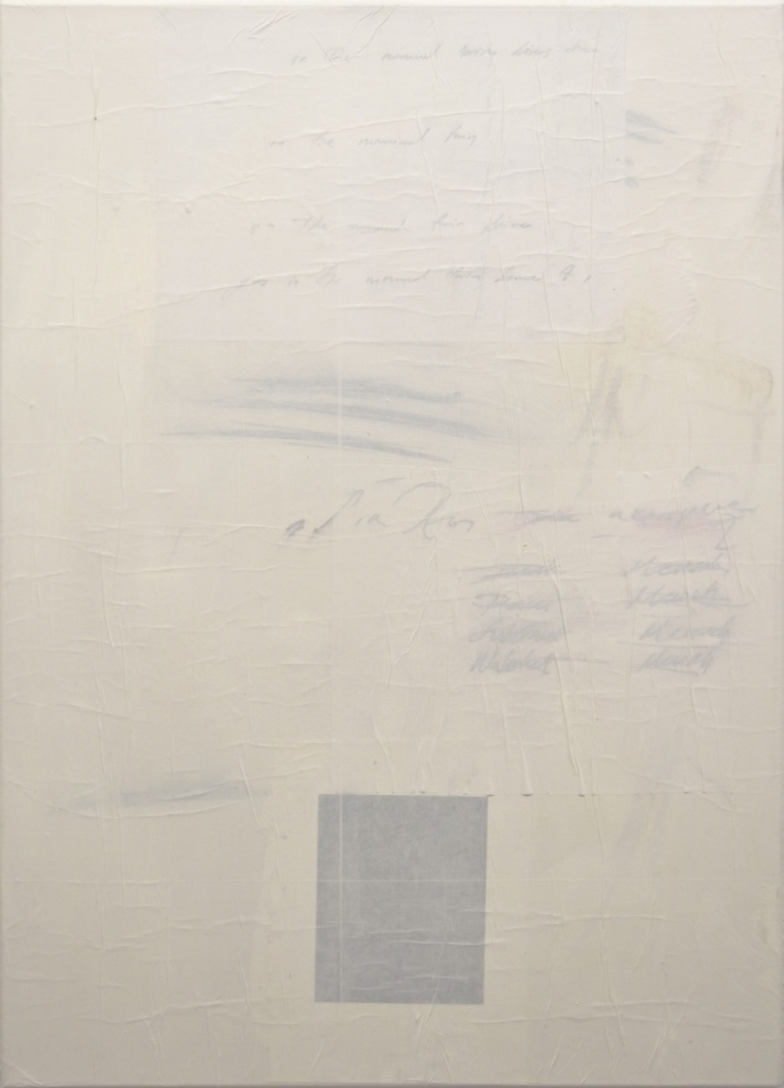Untitled (2) from the Ghost Notes Series 2018, mixed media on  Canvas, 70x50 cm