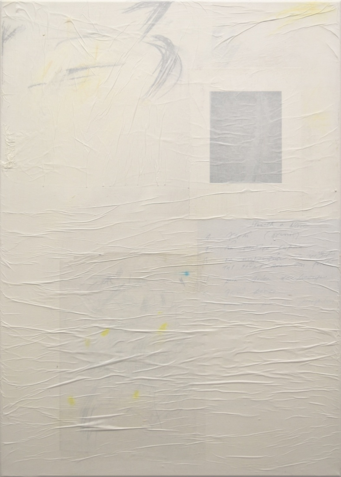 Untitled (5) from the Ghost Notes Series 2018, mixed media on  Canvas, 70x50 cm