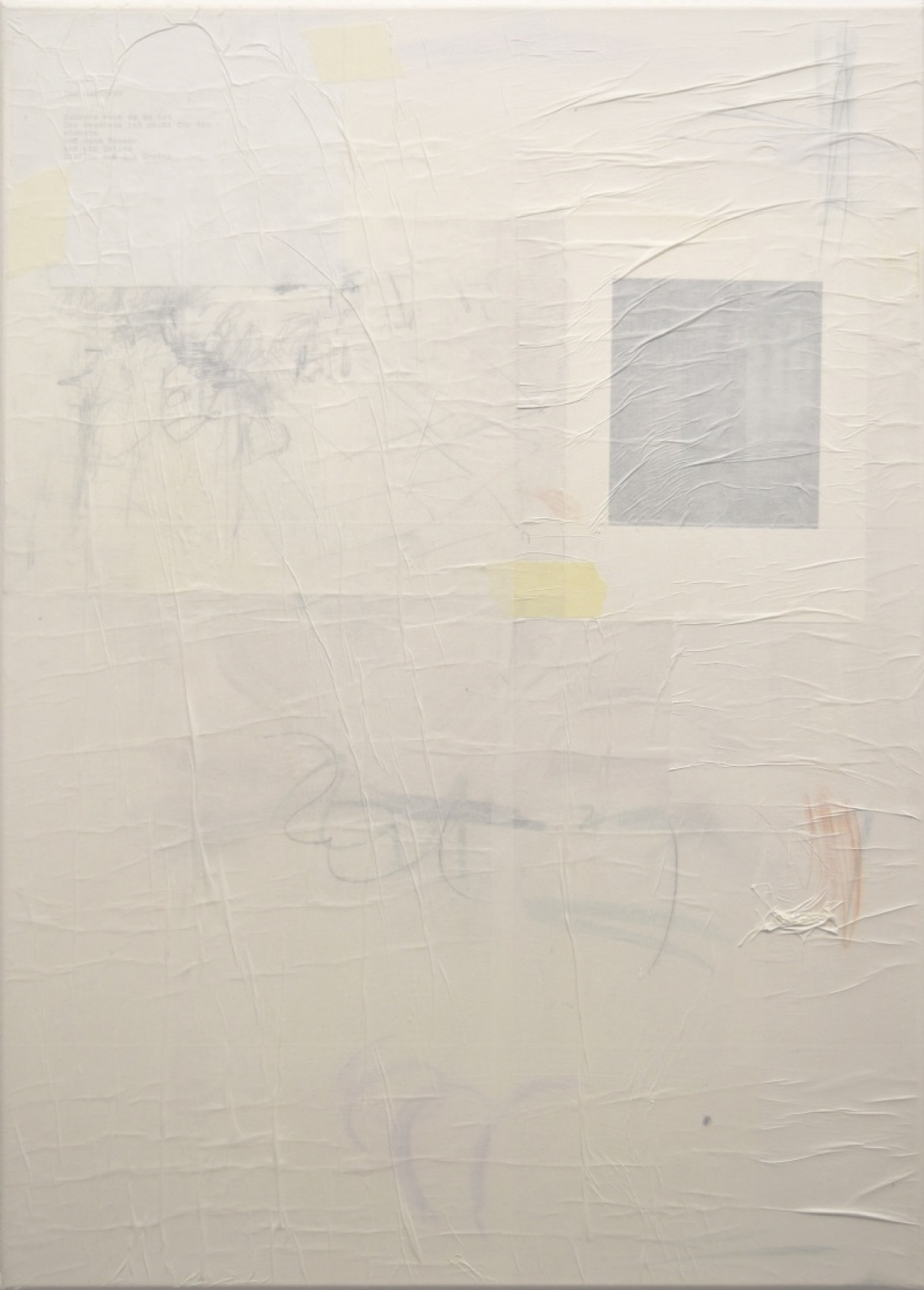 Untitled (7) from the Ghost Notes Series 2018, mixed media on  Canvas, 70x50 cm